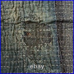 Rare Vintage Indigo Japanese Boro Sashiko Blanket/Rug