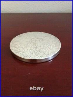 Rare Vintage Tiffany & Co 925 Sterling Silver Floral Mirror. Made In Mexico