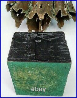 Rare Vintage Tom Greene Torch Cut Brutalist Modernist Sculpture Look