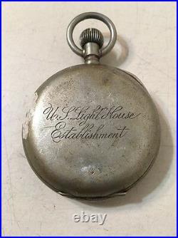 Rare Vintage U S Lighthouse Establishment Pocket Stop Watch Parts Project USLHE