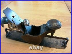 Rare Vintage antique Stanley no 113 compass plane old woodworking hand tool