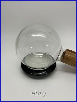 Rare Vtg Carl Aubock Glass Rattan Vessel withcork Stopper MCM Austria, Modernism
