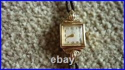 Rare antique/vintage TUDOR ROLEX ladies elegant cocktail watch 9ct gold