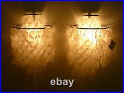 Rare original vintage pair VERNER PANTON FUN 2 WM wall lamps for J LUBER
