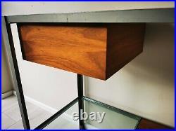Robin Day Habitat Vintage MID Century Modular Console Table Glass Wood Very Rare
