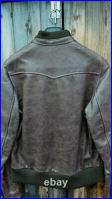 Schott Nyc New Vintage PERFECTO Racer Leather Antique Jacket made in USA Rare L