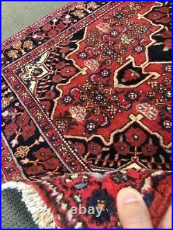 Spectacular Rare Tribal vintage Authentic Hamedan Area Rug 4 x 7 Wool knotted A+