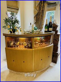 Stunning Rare Retro Vintage Antique Gold Cocktail Bar Beautiful Example Stunning