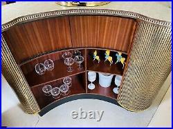 Stunning Rare Retro Vintage Cosmic Antique Gold Cocktail Bar Beautiful Stunning