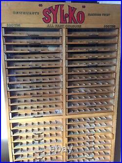 Sylko Haberdashery Cabinet Vintage Antique Great Condition For Age Rare Dewhurst