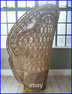 VINTAGE Rare Iconic Original Peacock Chair Emmanuelle Chair large Vinterior
