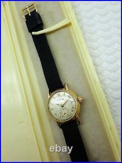 VTG ROLEX PRECISION 18k GOLD WATCH LADIES PATENTED ref 3747 ANTIQUE RARE 1940's