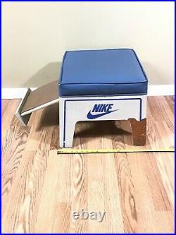 VTG Rare NIKE RETAIL SHOE TRY ON FOOT STOOL Padded Shoe Store