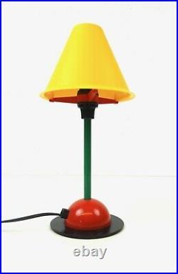 Very Rare Stunning Vintage MID Century Memphis Sottsass Table Lamp 80s
