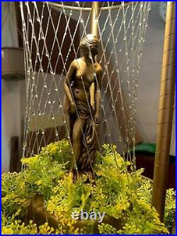 Vintage Antique 1960s Mineral Oil Rain Lamp WORKS Rare Nude Goddess by MJW Inc