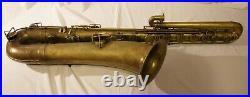 Vintage Antique Rare Buescher True Tone Bass Saxophone