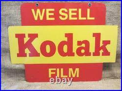 Vintage Eastman Kodak Double Sided Sign Camera Photography Antique RARE 9868