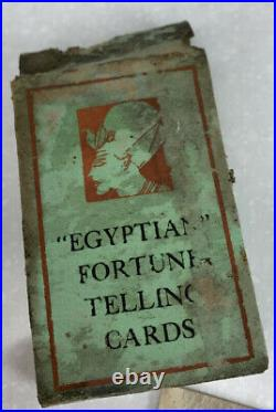 Vintage Egyptian tarot fortune telling cards- Antique- Rare- 36 In Deck