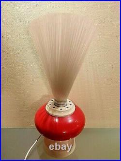 Vintage Germany 70' Fiber Optic Lamp Light Mid Century Space Age. Rare
