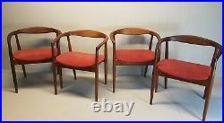 Vintage Kai Kristiansen Troja Dining Chairs X 4 very rare Danish original 60s