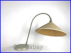 Vintage Kurt Versen Table Desk Lamp Gooseneck Saucer Rare Mid Century Modern