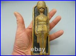 Vintage Large Brass Changing Of The Guards Door Knocker Mid Century Rare