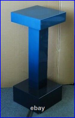 Vintage MID Century Modern Pierre Cardin Minimalism Fine Art Blue Pedestal Rare