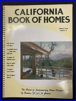 Vintage Rare 1951 California Book of Homes Neutra Eichler Schindler MCM Modern