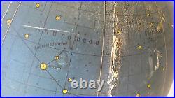 Vintage Ultra Rare 1950's Desk German Zodiacal Map Globe Globus HIMMELSGLOBUS