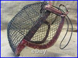 Vintage Wire Mesh Bee Keeper Mask Antique Fencing Mask Rare Design 9599