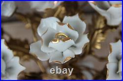 Vintage italian capodimonte marked Porcelain centerpiece flower bouguet rare