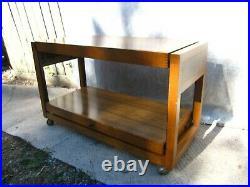 Vintage mid century rare Besway Metamorphic coffee tea trolley table