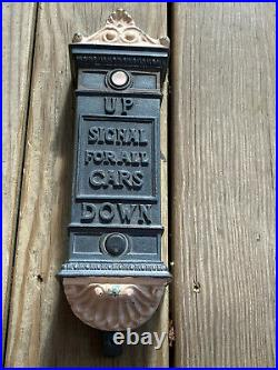 Vtg Antique Cast Iron Extremely Rare! Signal Up And Down For Elevator Cars