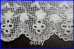 Vtg Antique Rare Dresden Whitework Lace Early 19th Century Shawl Pelerine