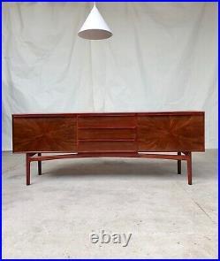 Vtg Mid Century Rare Mcintosh Rosewood Starburst Sideboard Danish Design #331