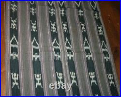 Vtg Rare Warp woven Ikat Cloth Philippines Ifugao Blanket Shroud Textile DS#4