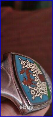 WOLFSBURG Crest Emblem CITY ARMS VW SPLIT BUG Volkswagen Antique Rare vintage