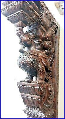 Wall Peacock Bracket Corbel Pair Wooden Bird Vintage bracket Home Art Decor Rare