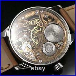 Zenith Antique Pilot Art Deco Skeleton Watch Excellent condition Vintage Rare